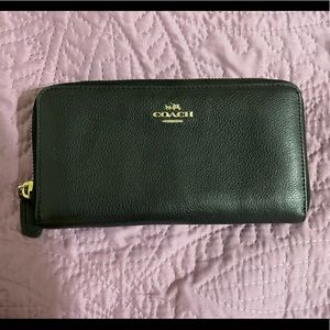 Coach zip up leather wallet